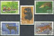 Timbres Animaux URSS 3644/8 o lot 29600