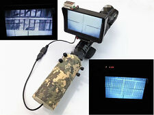 Day Night Use Rifle Scope Add On DIY Night Vision Scope w/ LCD Monitor IR Torch