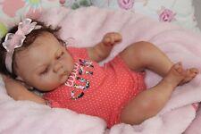 Reborn baby doll sweet newborn baby girl Casey with 3d skin OOAK
