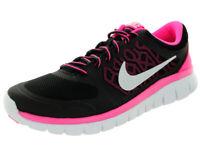 Nike Flex 2015 Rn (GS) Big Kid Running Shoe Black Pink White Size 5.5Y