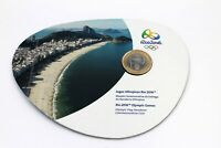 Brasilien 1 Real 2012 Olympische Flagge - Brazil Olympic Flag Coincard