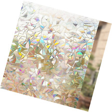 Decorative Static Cling Privacy Window Screen Sticker Film 3D Stained Glass New