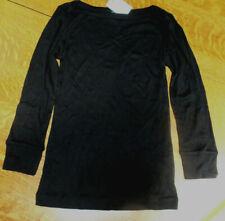 NWT J CREW BLACK LONG SLEEVE T-SHIRT BLACK PIMA COTTON WOMEN EXTRA SMALL