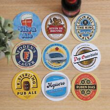 More details for man city football beer mats x9