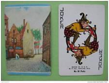 carte à jouer ancienne(USA 1940/45) de collection : rue et maisons
