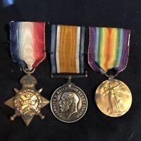 WW1 British Medal Group Machine Gun Corp Wales Reg.