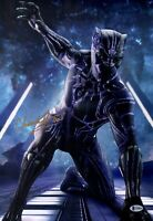 CHADWICK BOSEMAN Signed BLACK PANTHER 12x18 Photo IN PERSON Autograph BAS COA
