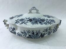 antica zuppiera inglese vittoriana in ceramica
