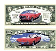MUSTANG 1965  Classic car DOLLAR  BILL