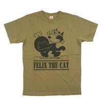 Vintage Felix The Cat Tee Shirts Mens Military US Navy T-Shirt Print Tee Tops