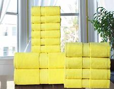 Hotel -Spa Quality Long Stapled 100% Cotton 600 GSM  12PC Bath Towel Set -YELLOW