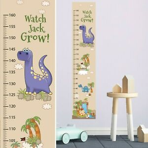 Dinosaurs Customised Height Growth Chart+8 Matching Design Wall Decor Stickers
