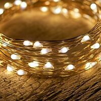 50ct Battery Operated Copper Wire String Light (Gold) – Indoor/Outdoor Use
