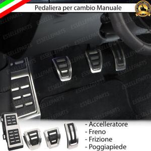 KIT COPRIPEDALI COPRI PEDALI PEDALIERA IN ALLUMINIO VW PASSAT B8 STILE R-LINE