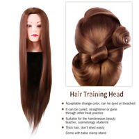 Salon Real Human Hair Training Head Hairdressing Styling Mannequin Doll&Clamp MR