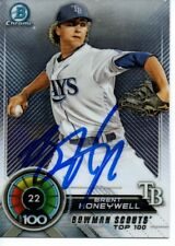 Brent Honeywell Tampa Bay Rays 2018 Bowman Top 100 Signed Card