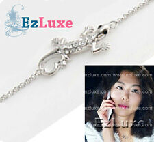 Korean fashion designer style CZ Cubic Lizard Necklace
