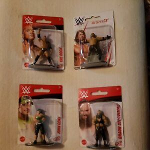 "WWE Mattel Micro Collection Wrestling Figures 3"" Figures Lot of 4 Wrestlers Cena"