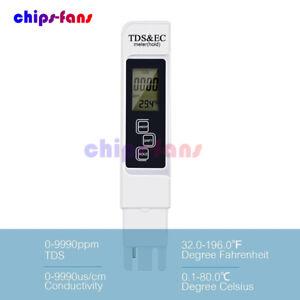 3 In 1 Multifunctional TDS EC PPM Water Quality Meter Tester Pen LCD Display