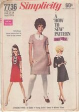 Robe vintage avec col amovible & poignets couture motif s7736 taille 13-14
