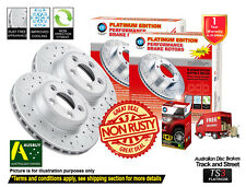 For MITSUBISHI Triton ML MN SLOTTED&DRILLED FRONT Disc Rotors (2) & 4X4 Pads (1)