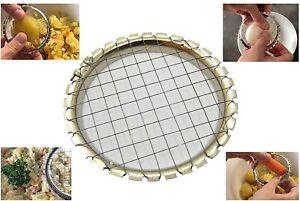 Stainless Steel Vegetable Slicer Cutter Chopper Egg Salad Potato Grid Tool