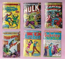 1981 Amurol Bubble Funnies Marvel Comic Group Set 6 Mini Sealed Comics Mint