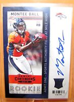 MONTEE BALL -  2013 Contenders RPS Rookie Ticket AUTO - Broncos RC