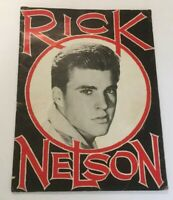 Rick Nelson Souvenir Book Ricky Nelson Magazine Souvenir Book Vintage