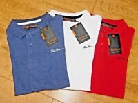Ben Sherman Junior Boys Solid Polo Shirt 100% cotton 3 colours 7 sizes FREE P+P