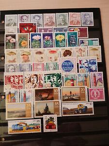 48 versch. postfrische Briefmarken DDR von 1974 bis 1978