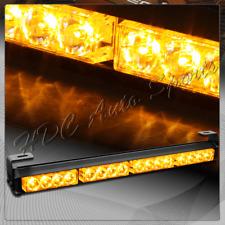 "18"" Amber LED Traffic Advisor Emergency Warn Flash Strobe Light Bar Universal 4"