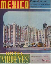 1940s Hotel Virreyes Travel Brochure Mexico City Mexican Vintage