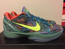 info for 725b3 8438b Nike Zoom KOBE VI 6 PRELUDE CANNON GREEN VOLT ORANGE BLACK BLUE 429913-008  Sz11
