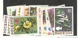 Bermuda, Postage Stamp, #255-271 Mint Hinged, 1970 Flowers