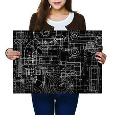 A2 | Mechanical Engineering Drawing - Size A2 Poster Print Photo Art Gift #2388