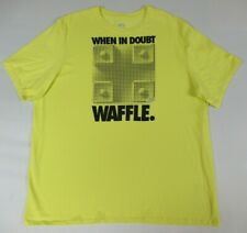 Nike Fit-Dry Run When In Doubt Waffle - Bright Yellow 2Xl Athletic T-Shirt B615