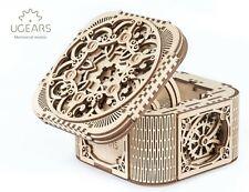 Mechanical UGEARS wooden 3D puzzle Model Treasure Box - damaged box