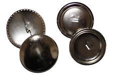 Überziehbare Knöpfe, 38mm - 10 Stück, Knopfrohlinge aus Metall