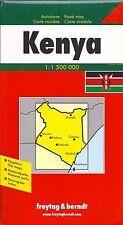 Map of Kenya, by Freytag & Berndt