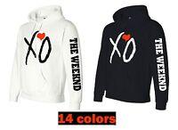 xo the weeknd hoodie red heart ovoxo the weeknd xo the weeknd ovoxo owl drake