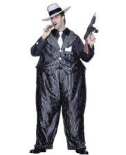 20V anni'20 Gangster Costume Fat Cat Costume Capone Vestito Da Smiffys Nuove