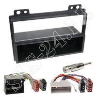 Auto Radio DIN Einbau Blende Rahmen+ ISO Adapter für FORD Fiesta MK6 Fusion SET