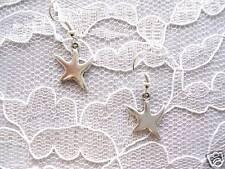 NEW FUN STARFISH / SHAPED STAR FISH DANGLING CHARMS PIERCED HOOK EARRINGS