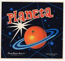 Planeta  original Spanish Orange Crate label