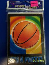 Championship Basketball Sports Banquet Birthday Party Invitations w/Envelopes
