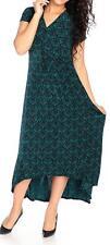 NEW Affinity for Knits™ Stretch Knit Short Sleeved V-Neck Hi-Lo Dress - SZ S
