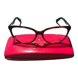 Kate Spade Readers Tortoise Pink Orange Reading Glasses .Hard Case & Cloth Incl