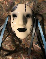 Nielsen Extraordinary Ceramic Mask California Black White Goth Face