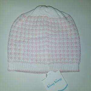 New Kissy Kissy Pink White Knit Cotton Cap Hat (9 months) NWT